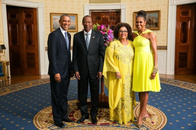 barack and michelle obama with blaise compaore and wife
