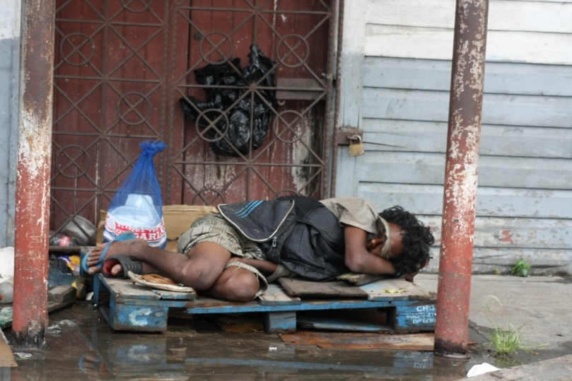 this man is not suffering under forbes burnham or blackman rule. this is ppp guyana today