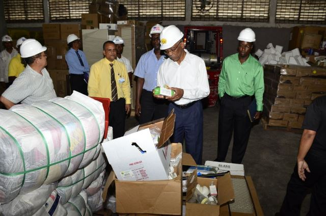 President Granger at Food for the Poor office