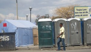 porta potty- haiti