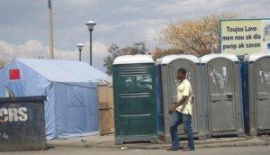 porta potty- haiti