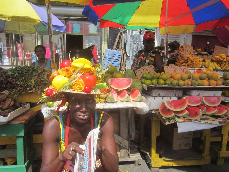 fruit vendor fruit hat
